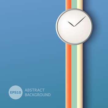 Vector illustration of abstract background with clock sign on blue background - Free vector #125772