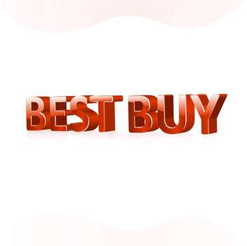 Vector illustration of red color best buy text on white background - Free vector #125802