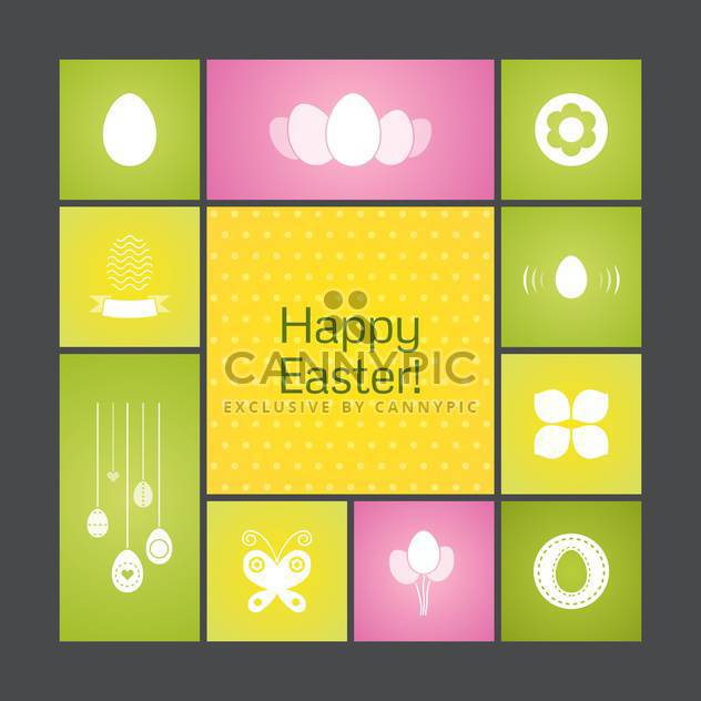 Vector colorful holiday background for Happy Easter - Free vector #125852