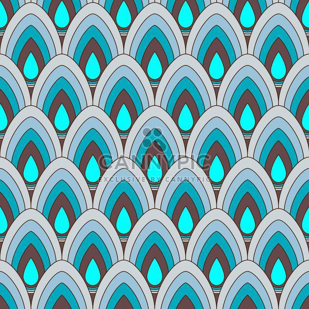 Vector abstract background with blue ornament pattern - Free vector #125962