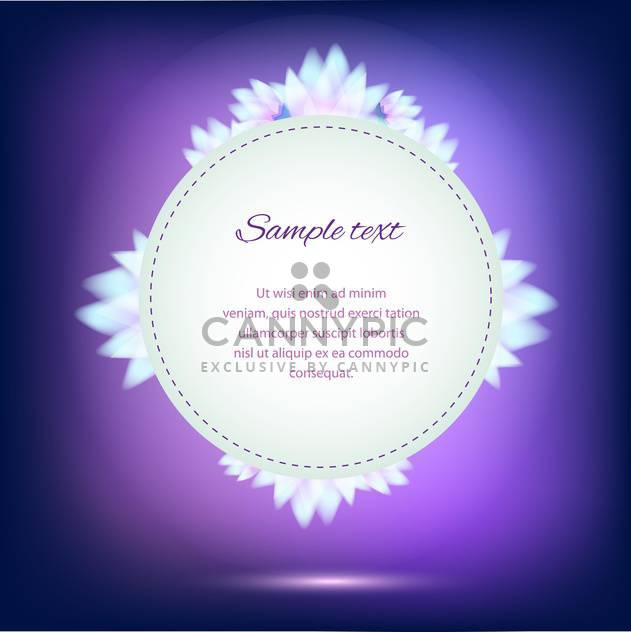 Invitation card on violet background with colorful flowers - Free vector #126142