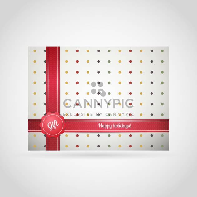 Vektor-Hintergrund der Geschenk-Box mit bunten Punkten und rote Schleife auf weißem Hintergrund - Kostenloses vector #126242