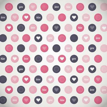 Vector background with hearts in colorful dots - бесплатный vector #126272