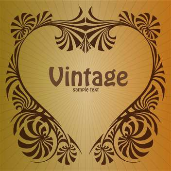 Vector vintage brown background with floral pattern - vector gratuit #126282
