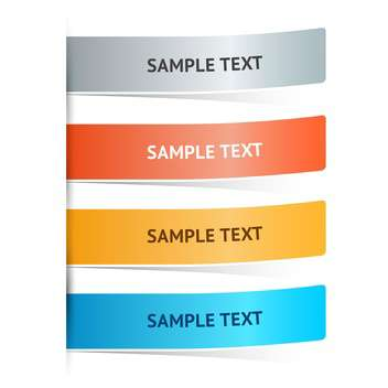 Vector colorful web banners with text place - vector #126372 gratis
