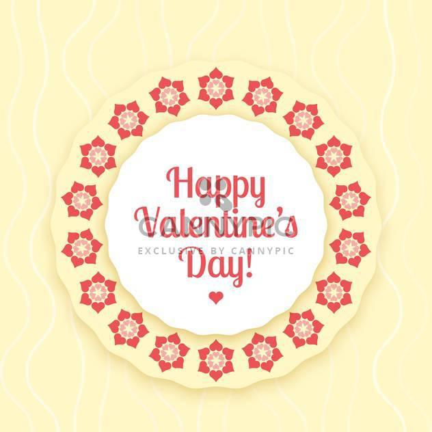 Vektor-Karte für Valentinstag Hintergrund mit Blumen - Free vector #126482