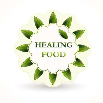 Vector illustration of green icon for healing food on white background - vector gratuit #126542