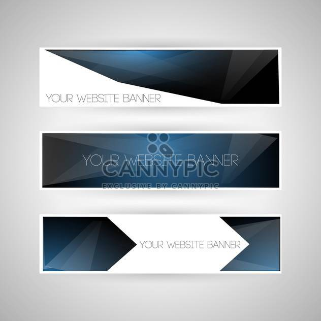 Vector set of geometric banners on grey background with text place - Free vector #126612