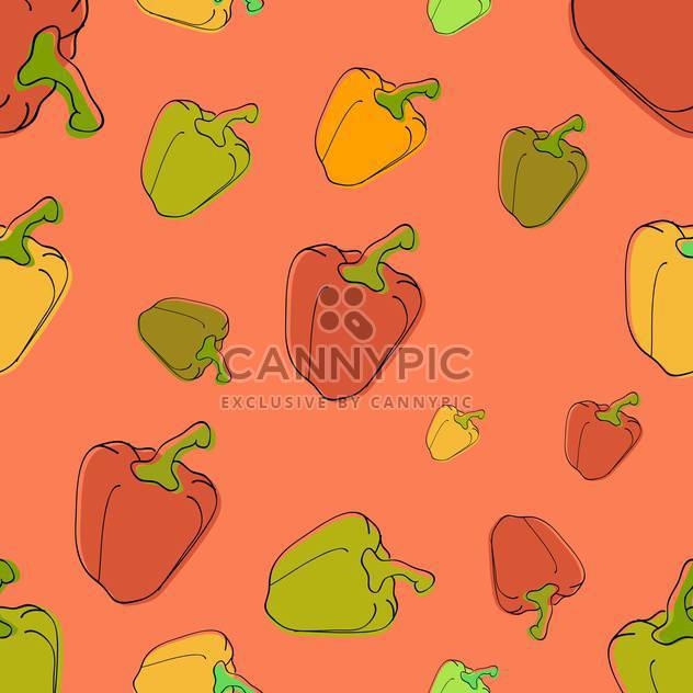 colorful illustration of background with healthy peppers - Free vector #126642
