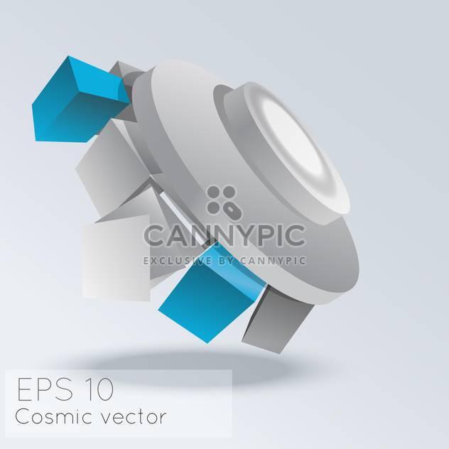 Vektor-Illustration von abstrakten kosmischen grauen Hintergrund mit Würfel - Kostenloses vector #126742