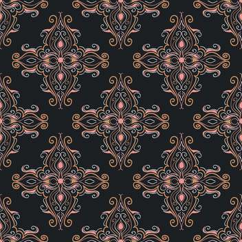 Vector vintage background with art floral pattern - vector gratuit(e) #126762