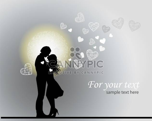 Valentine's romantic background with couple in love - Free vector #126812