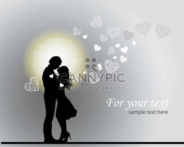 Romantischer Valentinstag Hintergrund mit verliebte Paar - Kostenloses vector #126812