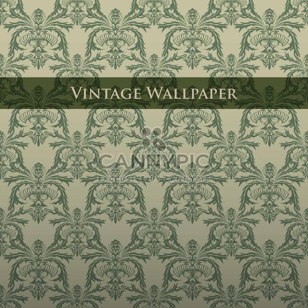 Vektor bunt Vintage Tapete mit Blumenmuster - Free vector #126822