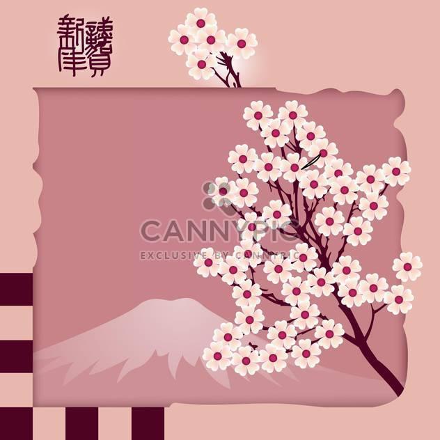 Schöne rosa Blüte Sakura Vektor Hintergrund - Kostenloses vector #126862