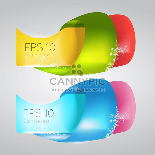 Vector illustration of colorful banners with text place - Free vector #126902