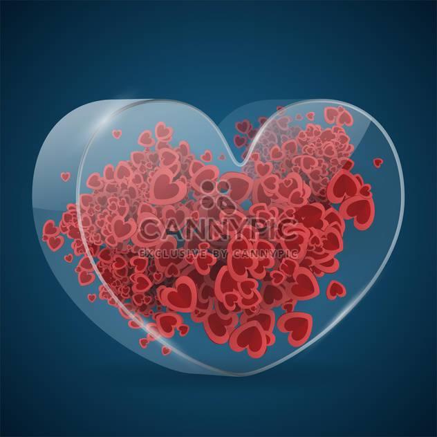 Vektor Valentine blauer Hintergrund mit roten Herzen - Kostenloses vector #126972