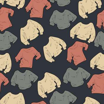 Collection of female sweaters on grey background - Free vector #127042