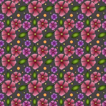 Vector floral dark green background - Free vector #127112