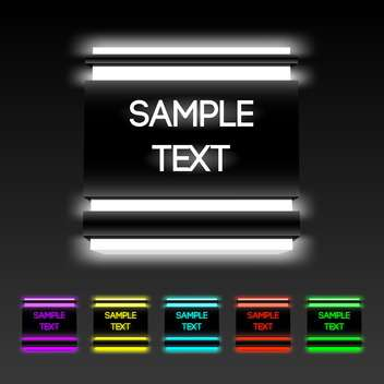 Vector set of glowing buttons with text place - Kostenloses vector #127222