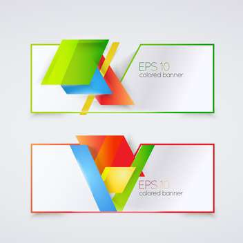 Abstract colored geometric banners with text place - vector gratuit #127252