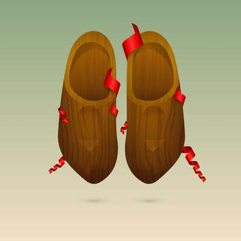colorful illustration of dutch wooden shoes - Kostenloses vector #127292