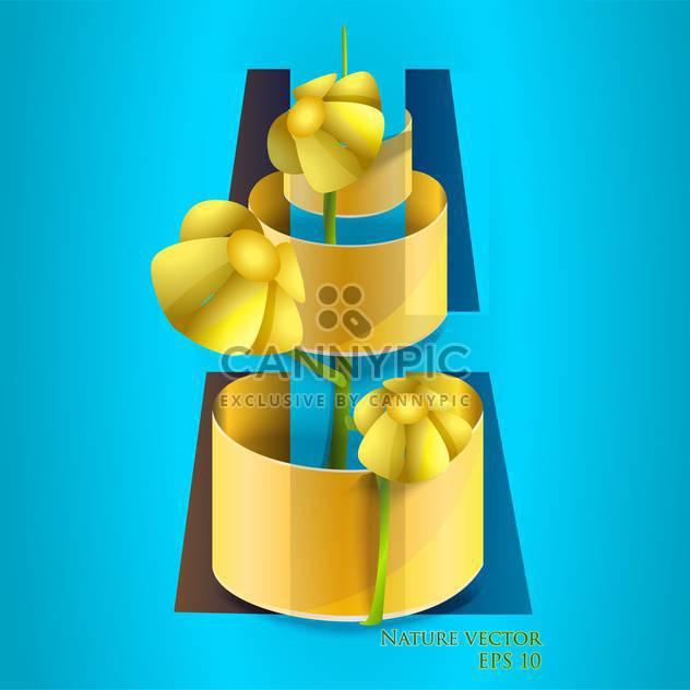 Vektor-Illustration der Blume im Topf auf blauem Hintergrund - Free vector #127332