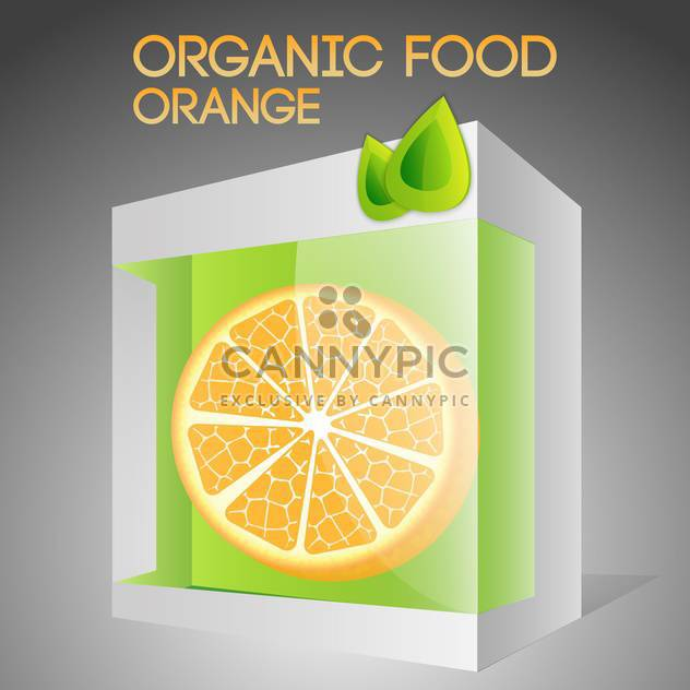 Vector illustration of orange in packaged for organic food concept - Free vector #127382