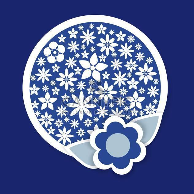rund geformte Vektor floral Muster auf blauem Hintergrund - Kostenloses vector #127412