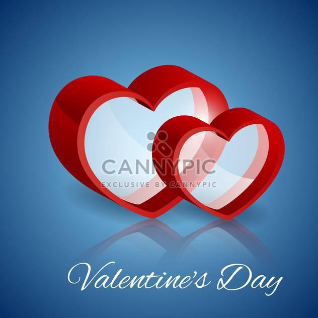 Vektor-Hintergrund mit Glas-Herzen zum Valentinstag - Kostenloses vector #127462