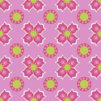 Seamless flower pattern on pink background - vector gratuit #127472
