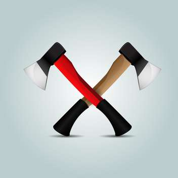 Two crossed axes on grey background - бесплатный vector #127492