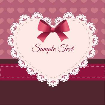 Vintage retro vector cute frame with heart and text place - vector #127582 gratis