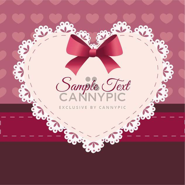 Vintage retro vector cute frame with heart and text place - Free vector #127582