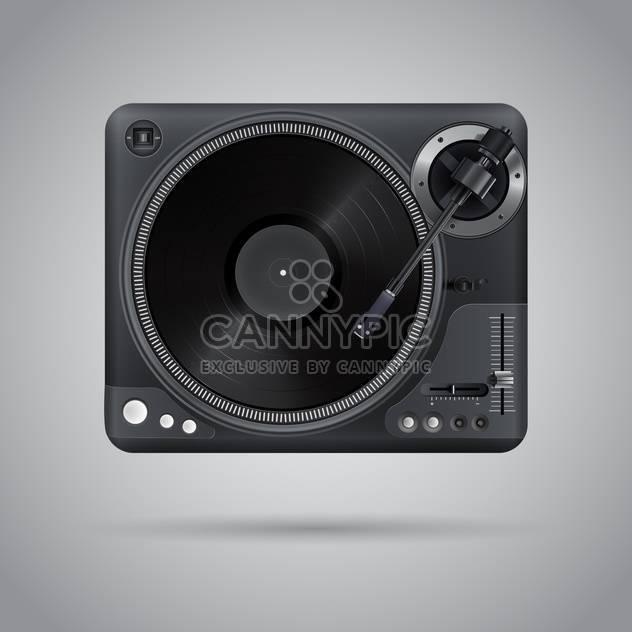 vector illustration of classic dj mixer - Free vector #127662