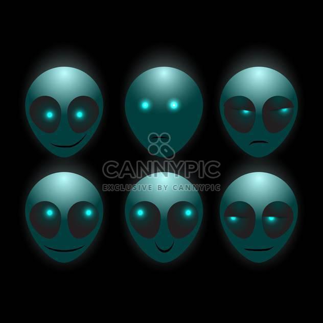 Satz der Vektor Fremde Gesichter auf dunklem Hintergrund - Kostenloses vector #127672