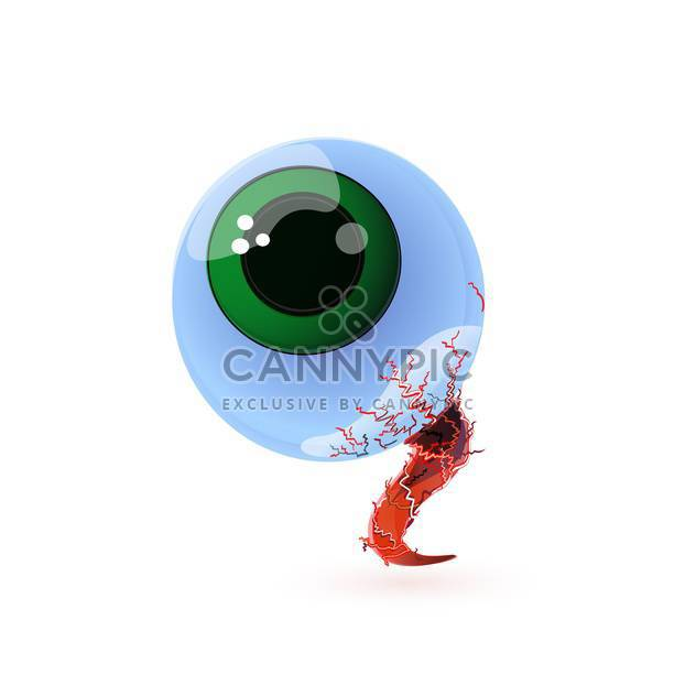 vector illustration of big human eye on white background - Free vector #127732