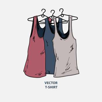 Vector illustration of grunge fashion t-shirts - Free vector #127772