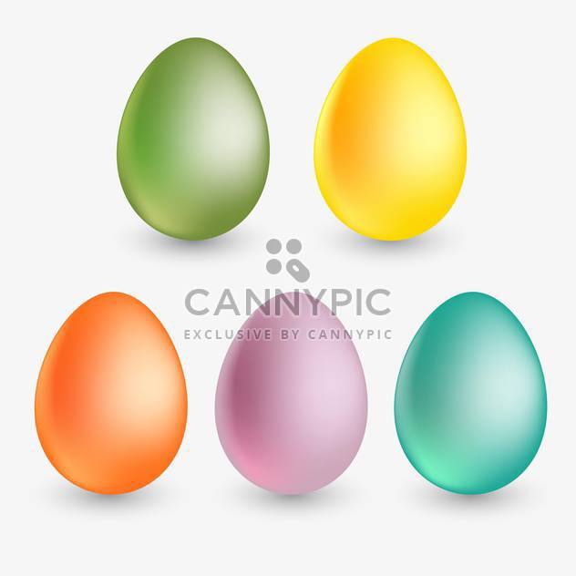 vector illustration of colorful easter eggs on white background - Free vector #127852