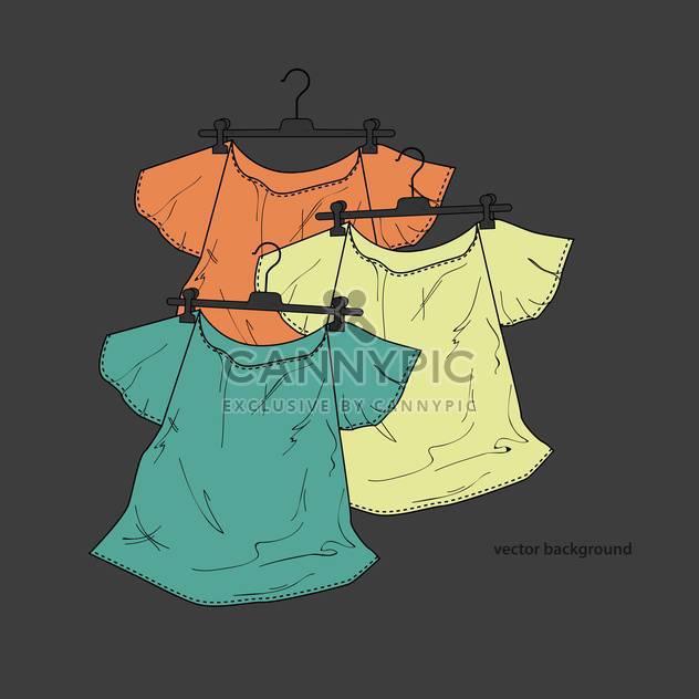 Vektor-Hintergrund des weiblichen Shirts in Kleiderbügel - Free vector #127932