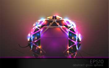 vector illustration of abstract colorful light arch - vector #127962 gratis