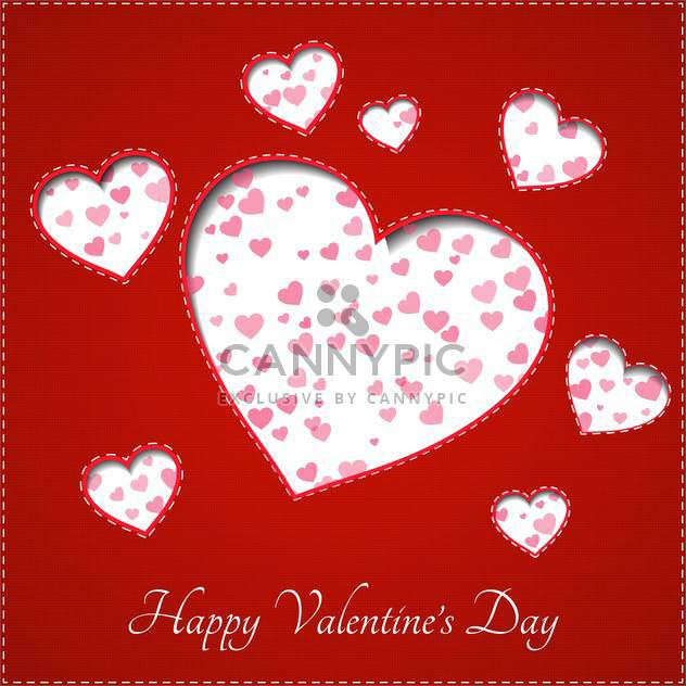 weiß Herz für Valentinstag Hintergrund - Free vector #128052