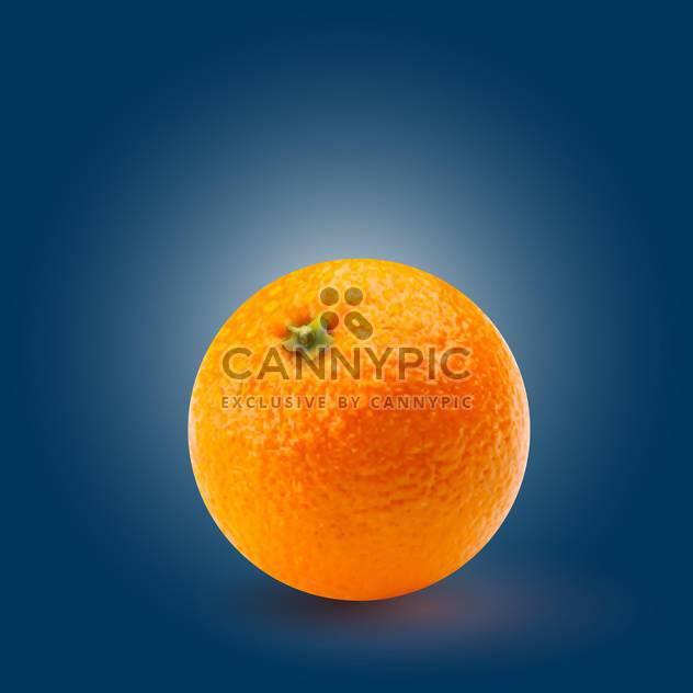 Vektor-Illustration von rund geformte reif Orange auf blauem Hintergrund - Kostenloses vector #128072