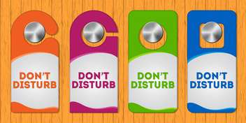 Hotel do not disturb door hanger with special design - vector #128092 gratis