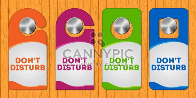 Hotel do not disturb door hanger with special design - Free vector #128092