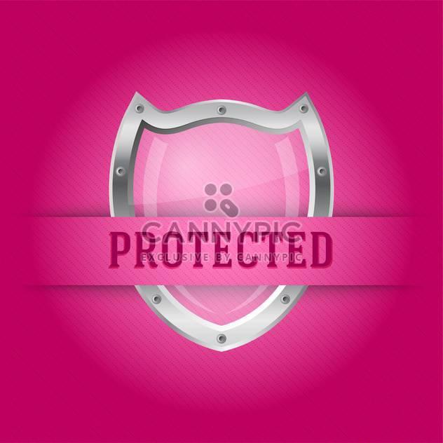 Schutz der silbernen Schild auf rosa Hintergrund - Kostenloses vector #128122