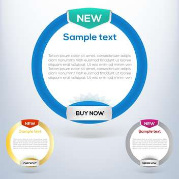 Vector web banner set with space for text - Free vector #128232