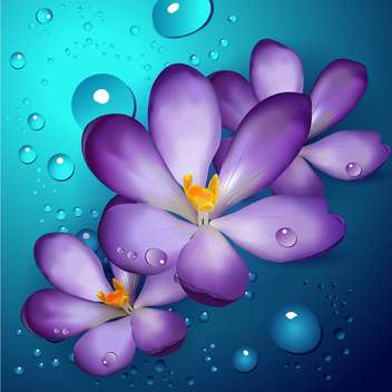 violet lotus flowers, vector Illustration - vector gratuit #128262
