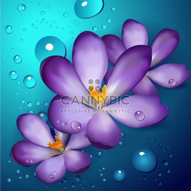 Violet Lotusblumen, vector Illustration - Free vector #128262