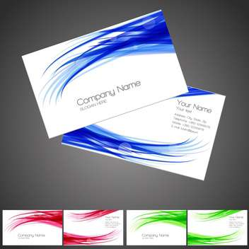 Set with three vector business cards - Free vector #128282
